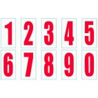 Red Numbers - Cadets Large Size