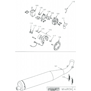 Mini Rok Ignition Assembly & Exhaust
